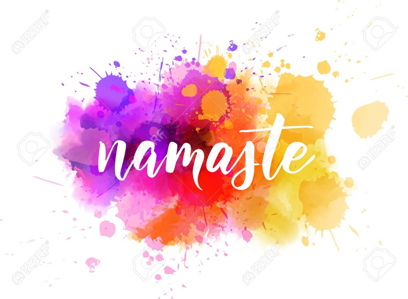 Namaste (Indian greeting, Hello in Hindi) handwritten modern