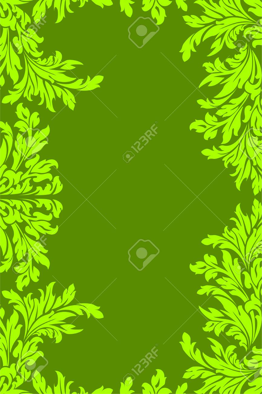 Green floral frame Stock Vector - 7914481