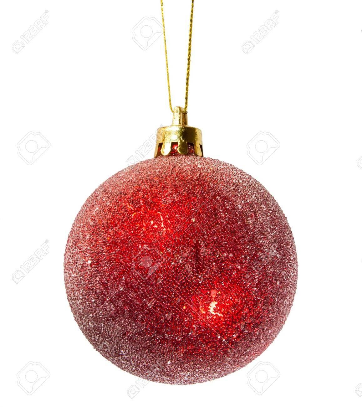bola de navidad sobre fondo blanco foto de archivo
