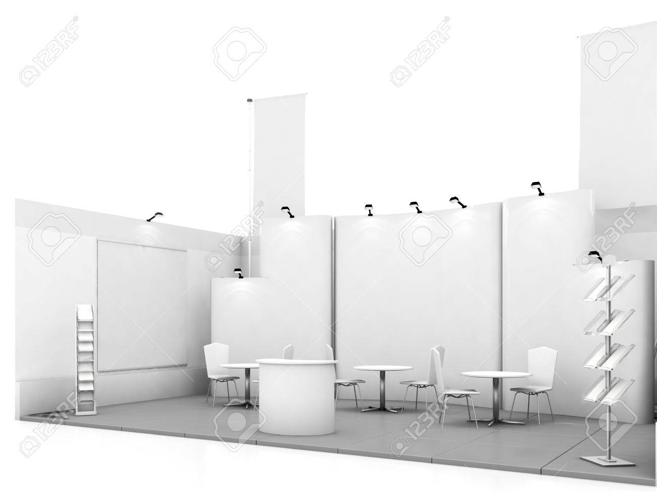 Exhibition Booth Mockup Free Download : Blank trade show booth mock up d illustration stock photo