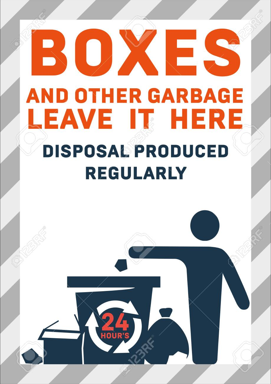 Site waste disposal Vector colorful illustration of office trash - 152258194