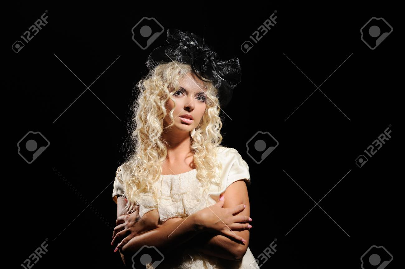 Portrait of beautiful girl with artistic make-up Stock Photo - 13731430