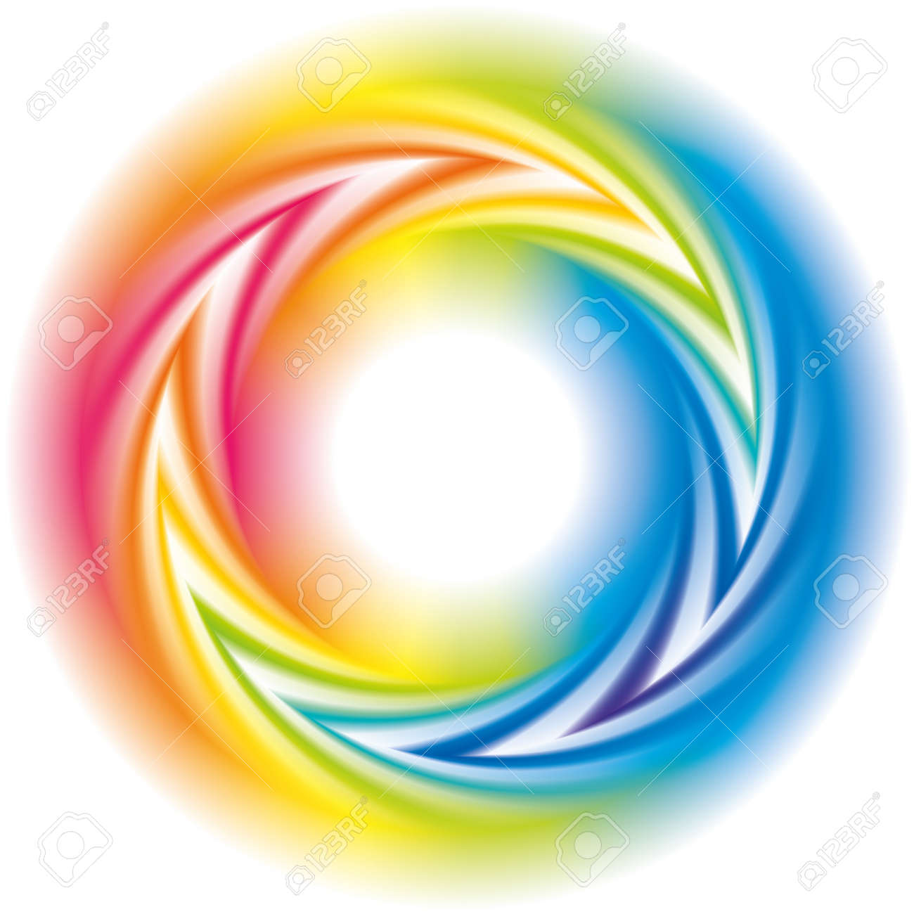 Abstract colorful background. Vector frame of the spiral curled rainbow spectrum - 156656601