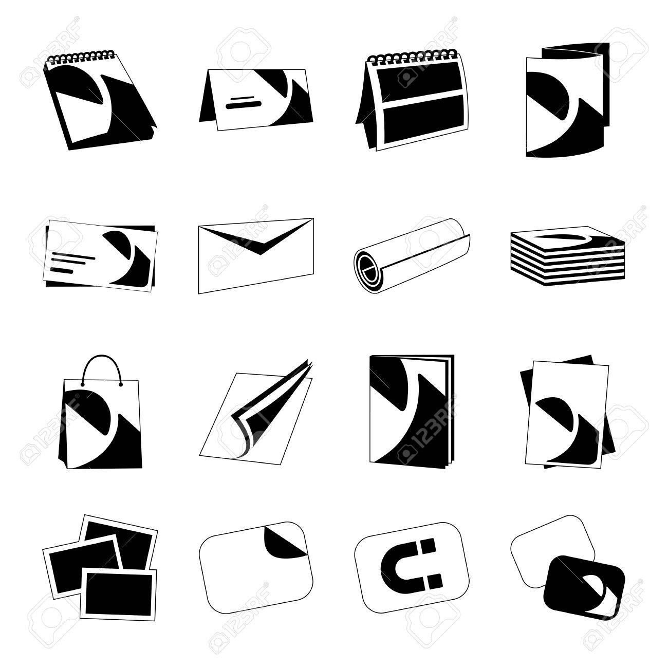 Maison Dimpression Monochromes Web Icones Noires Avec Des Produits