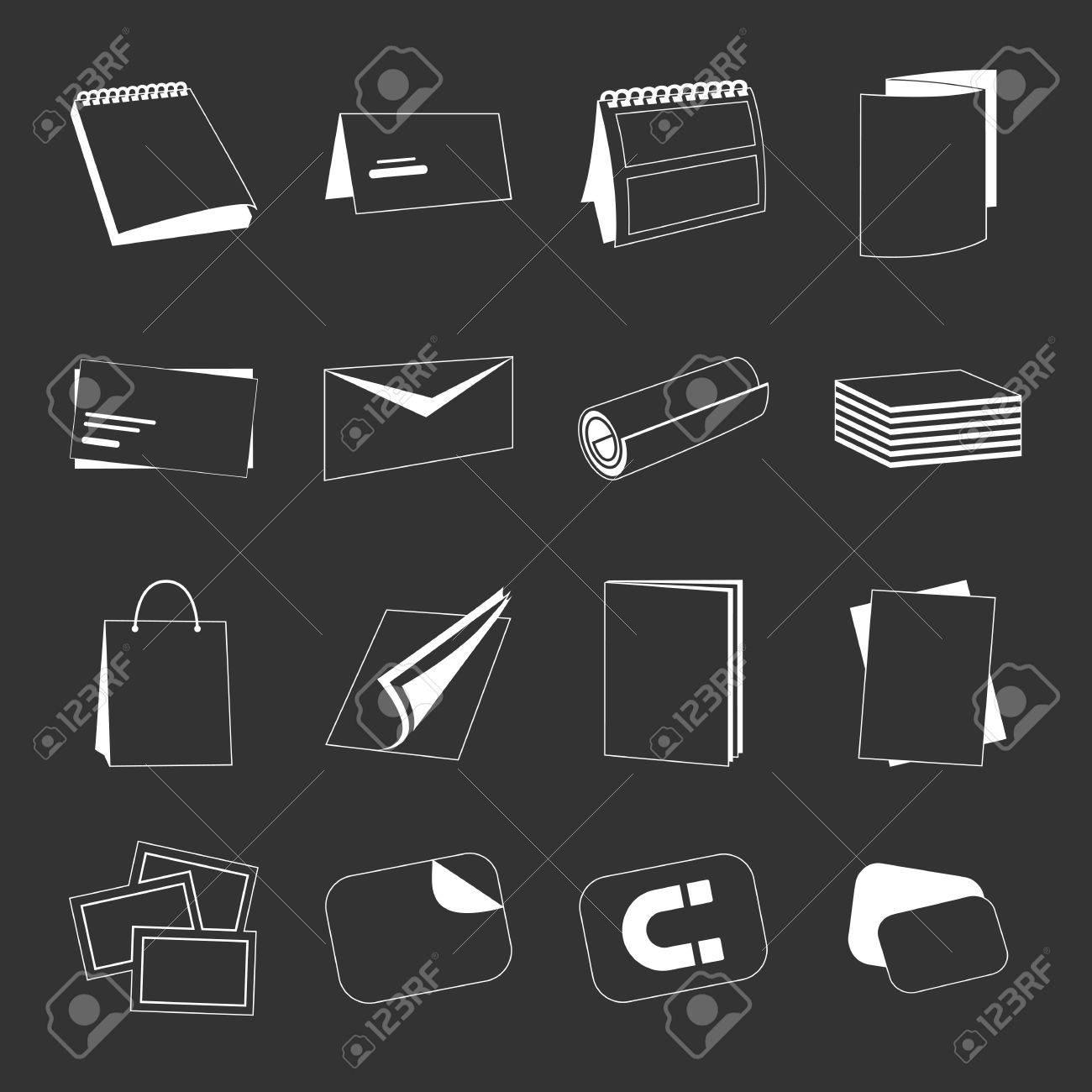 Maison Dimpression Monochromes Web Icones Blanches Avec Des