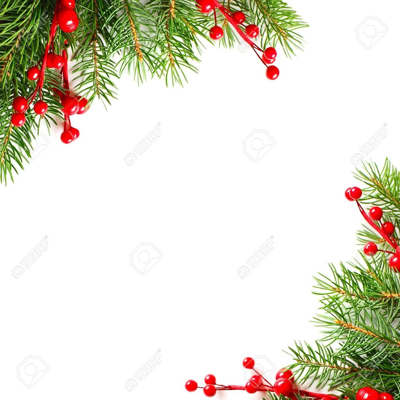 Carte De Noël Vintage Avec L'arbre De Noël Vert Et La Bordure