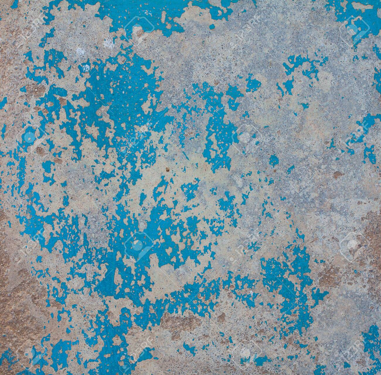 Texture of wood with old color blue and white background. Design - 137859234
