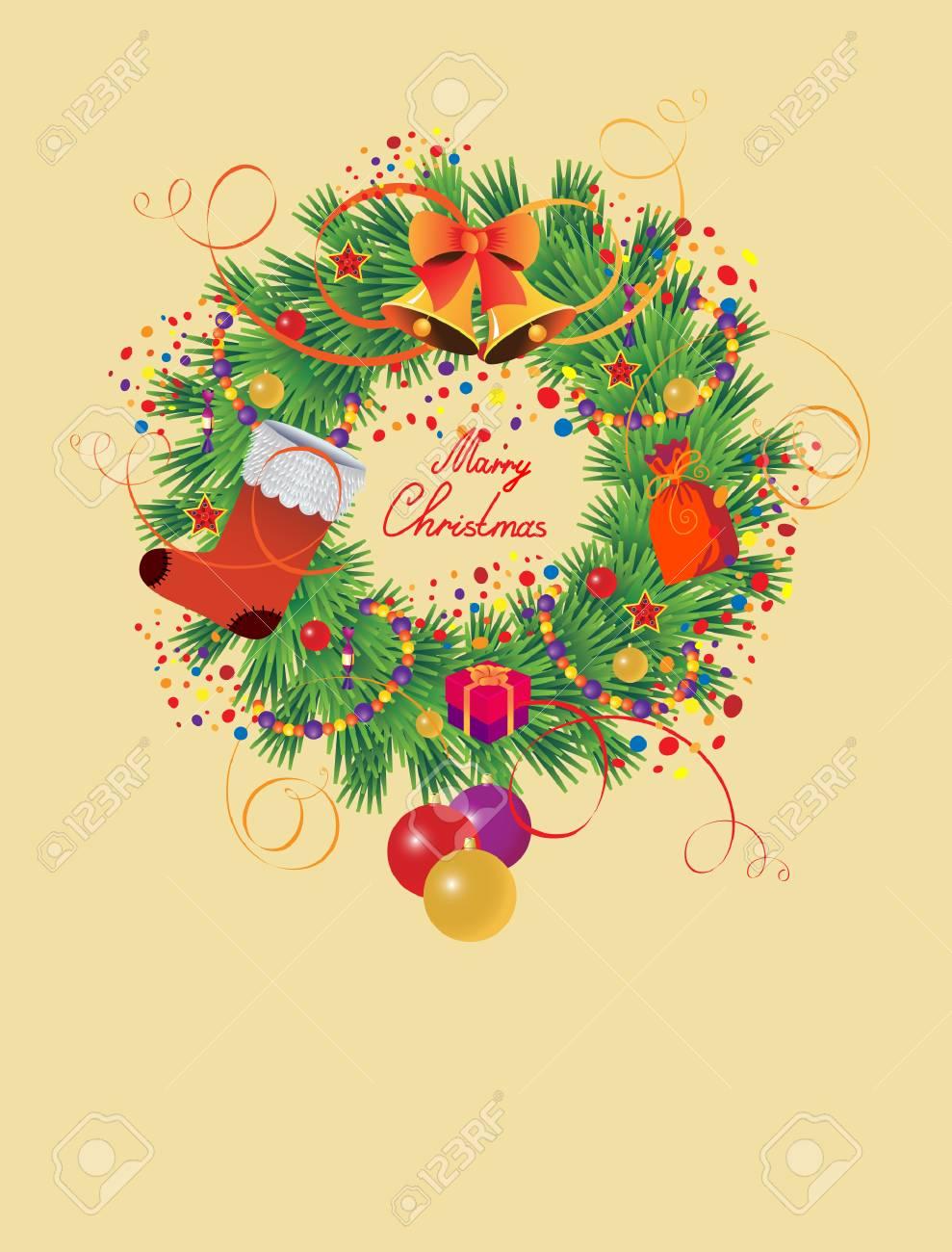 Christmas wreath Stock Vector - 6021438