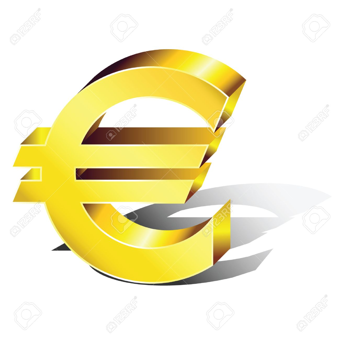 Euro symbol in volume. Stock Vector - 6891957