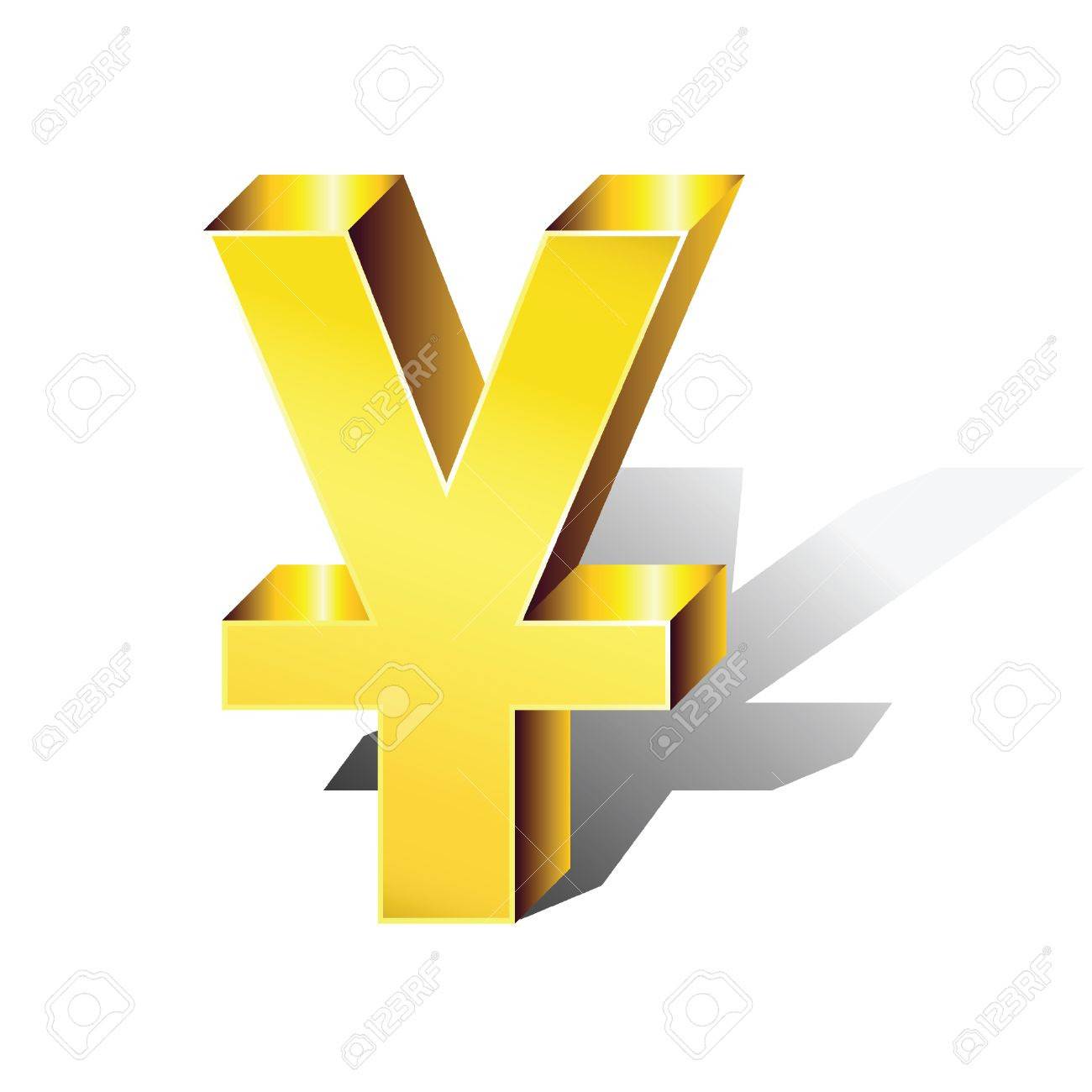 The symbol of the chinese currency yuan in color and in volume the symbol of the chinese currency yuan in color and in volume stock vector biocorpaavc