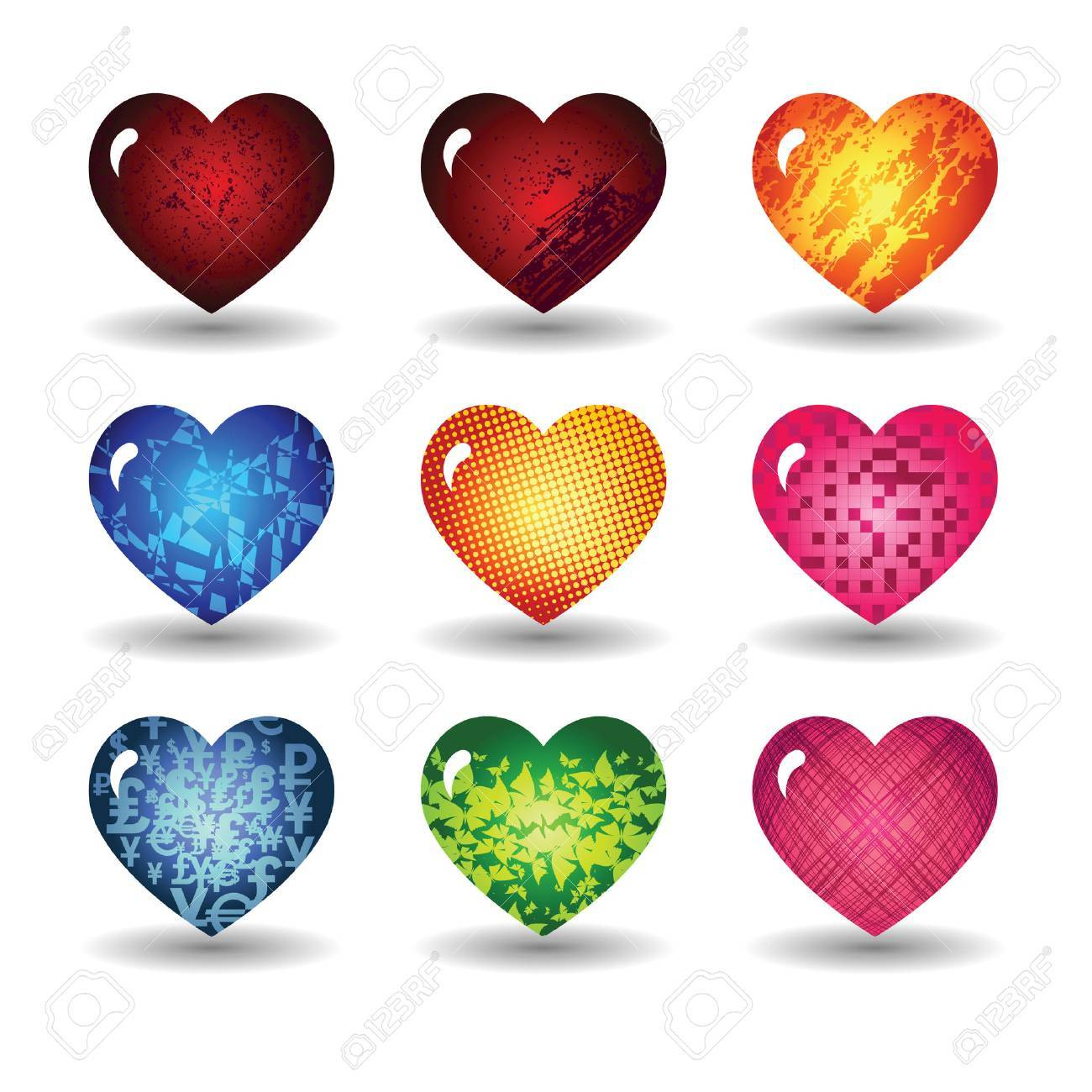Set the hearts of Valentine's Day Stock Vector - 8617236
