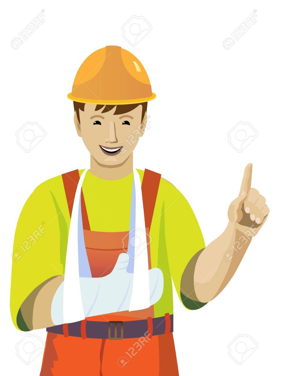 Illustration with the image of the working hand injury Stock Vector - 21910783