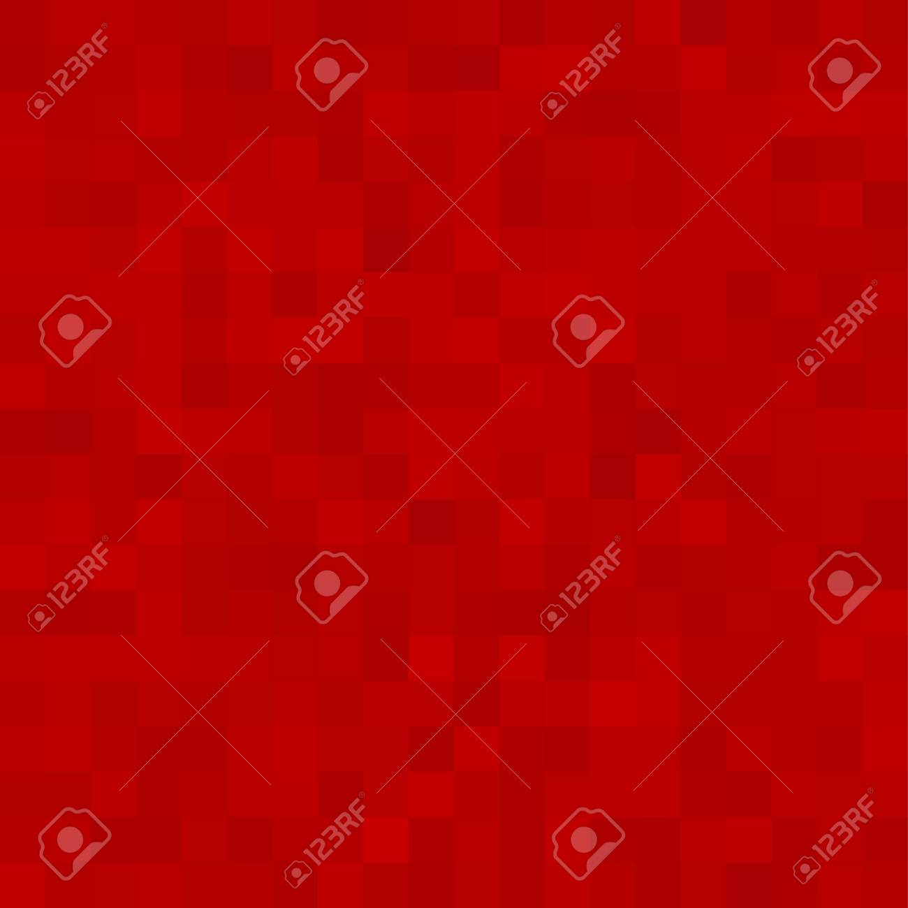 Red Square Mosaic Background. Seamless 3D Pixel Mosaic. Vintage Colorful Texture. Vector illustration. - 125462094