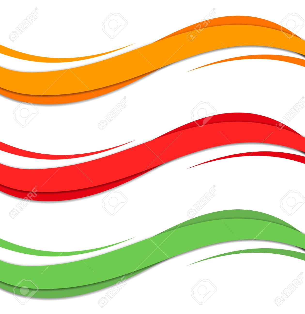 Abstract color wave design element. Smooth dynamic soft style on light background. Vector illustration - 125462282