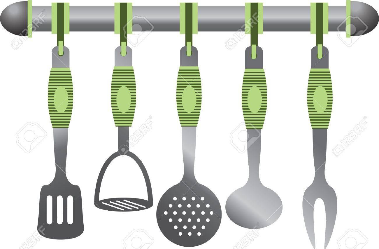 Metal Kitchen Set Stock Vector   10528376