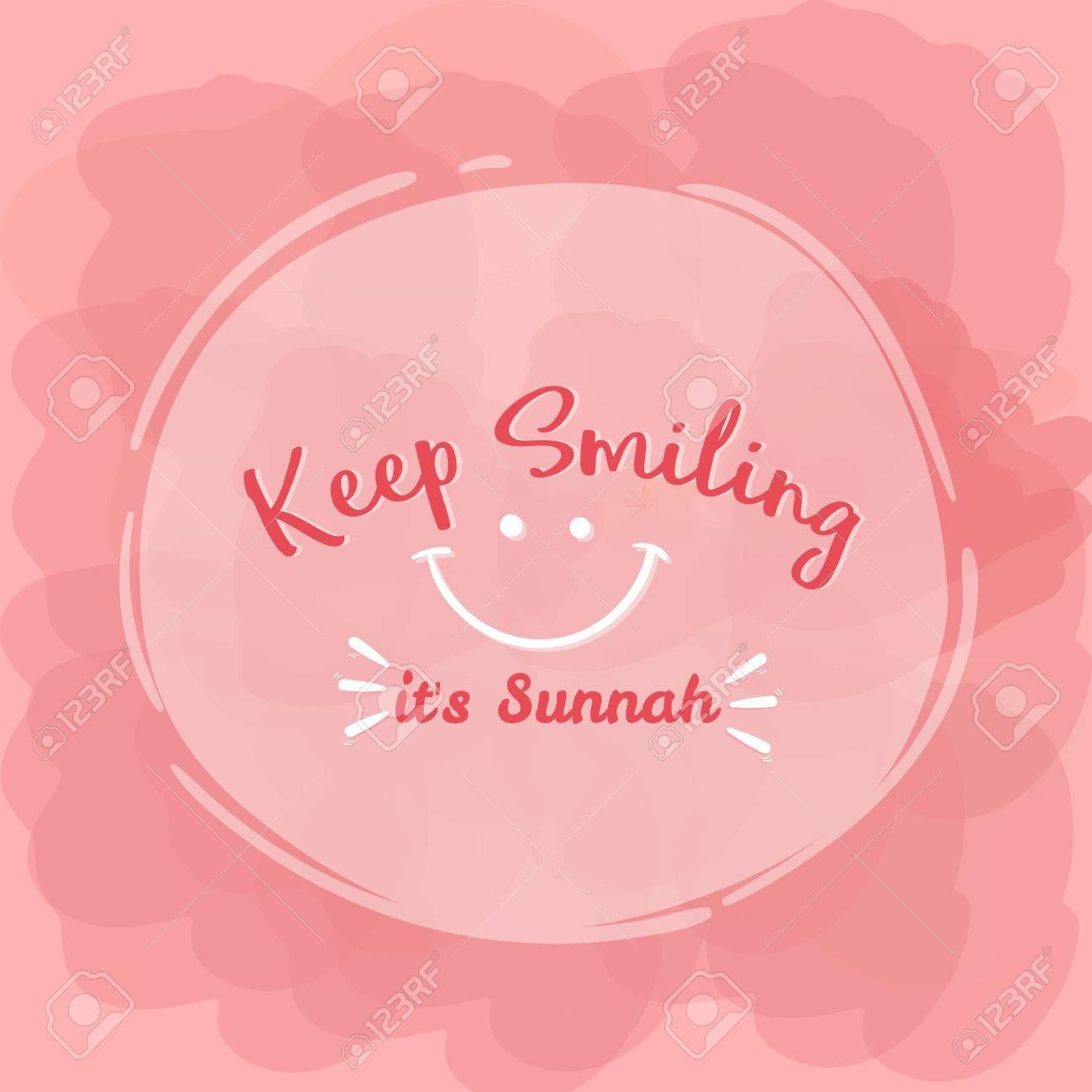 keep smiling its sunnah quotes islam word royalty cliparts