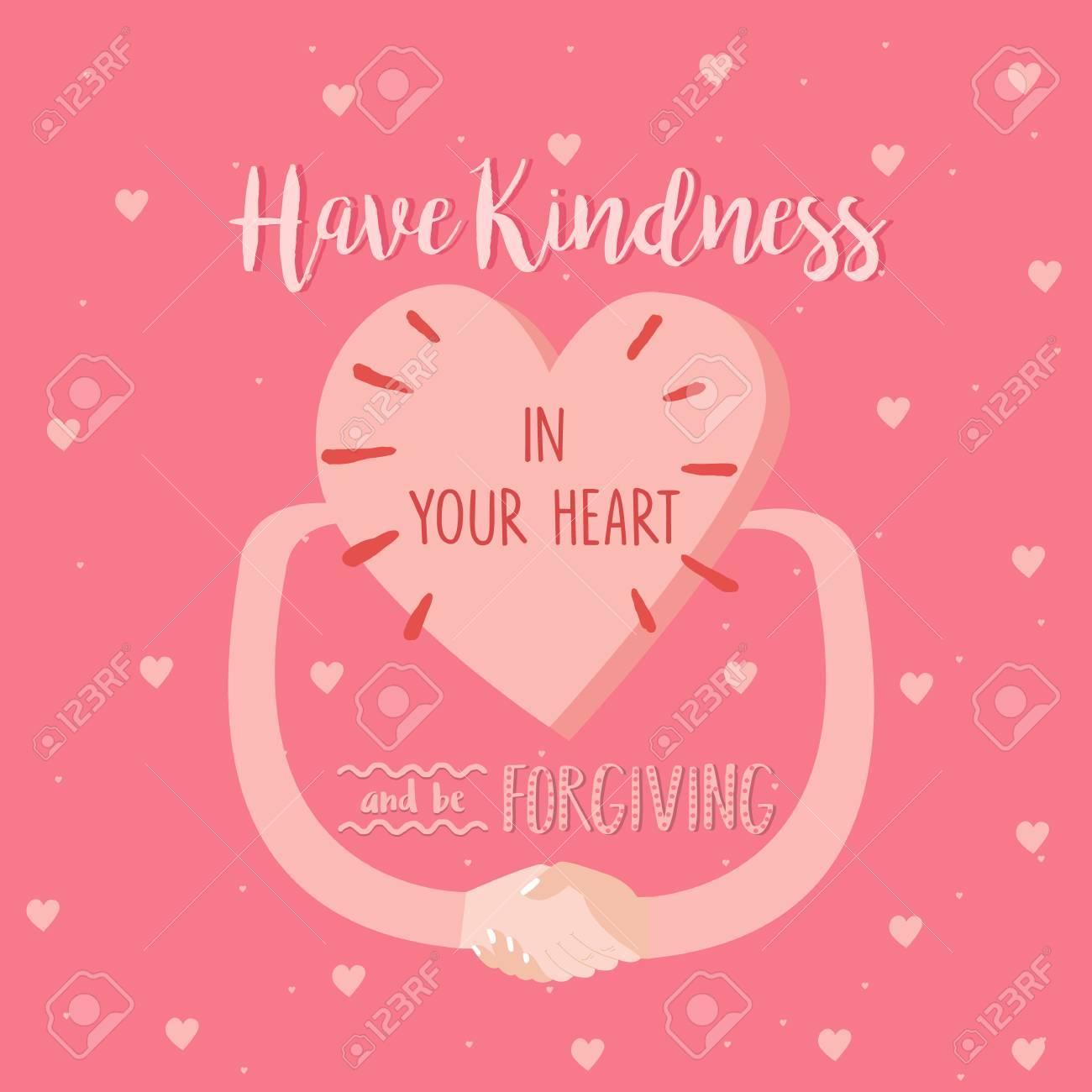 Avoir De La Gentillesse Dans Votre Coeur Et être Pardonner Citations Affiche Rose