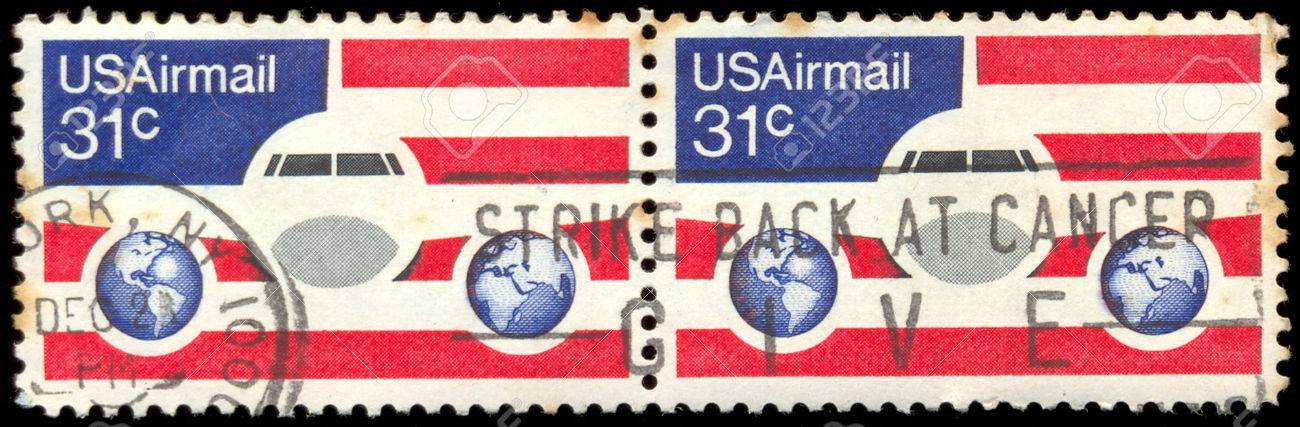 USA CIRCA 1976 A 31 Cent United States Airmail Postage Stamp