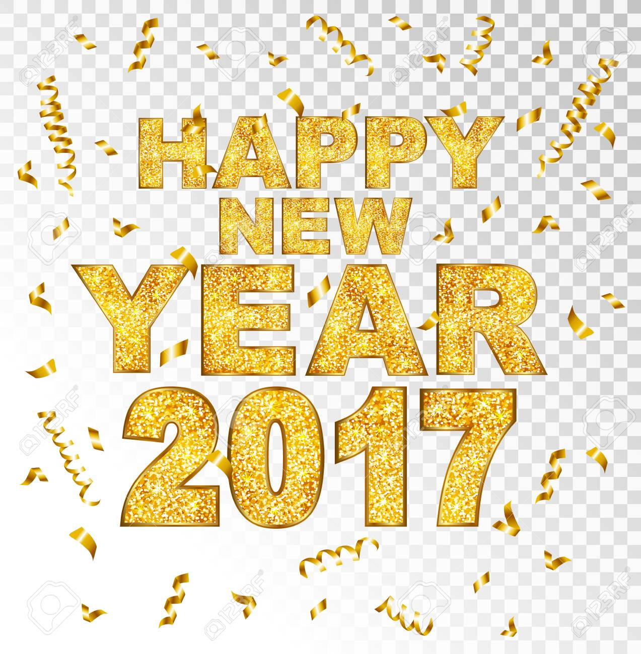 Happy New Year Transparent Background 13