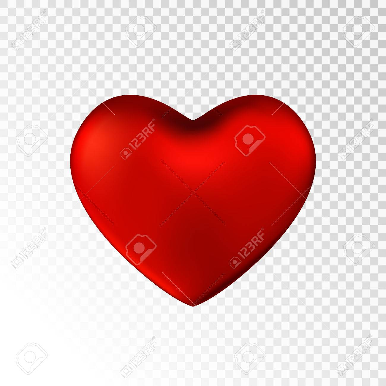 Red Heart Isolated On Transparent Background Happy Valentine S