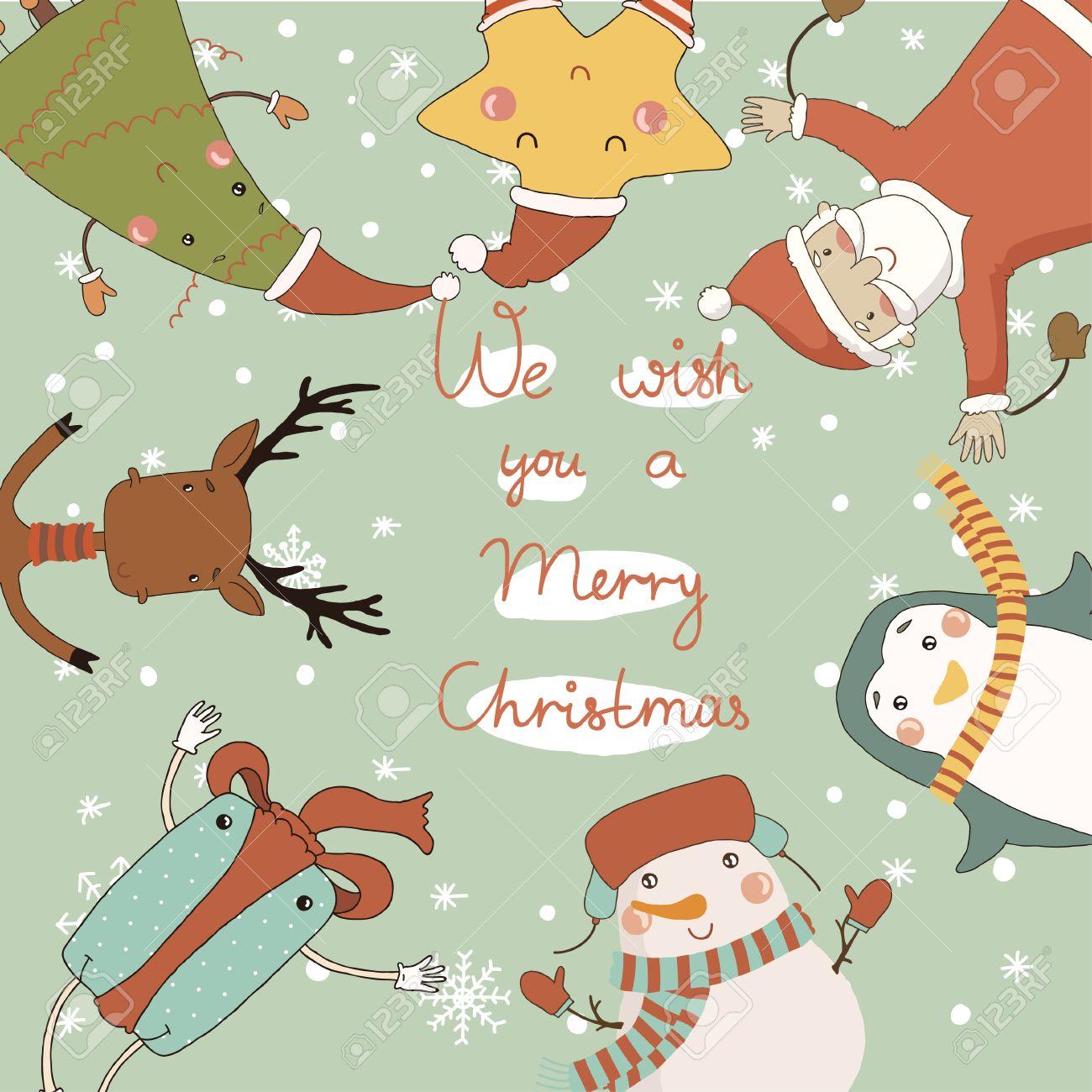 Dibujos de navidad para postales navideРіВ±as
