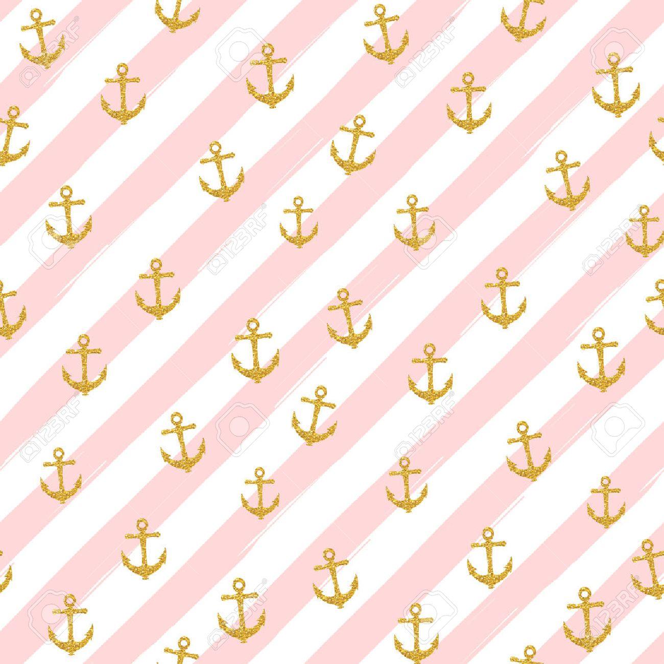 pretty summer seamless pattern template gold glitter confetti