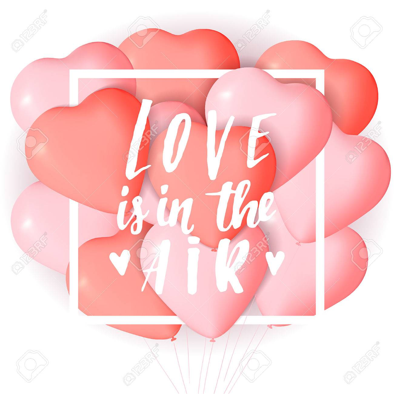 happy valentine s day card template with cute and fancy pink