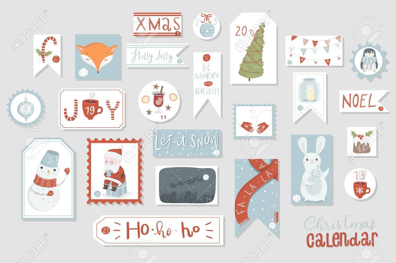 photo relating to Printable Christmas Countdown Calendar titled Xmas introduction calendar, lovely hand drawn structure. 20 4..