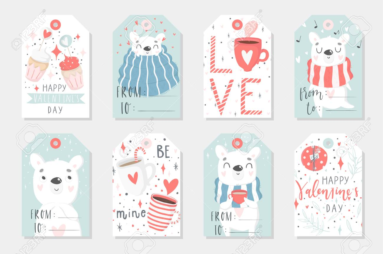 picture about Cute Gift Tags Printable identify Preset of 8 lovely organized-in the direction of-seek the services of reward tags with polar endure. Items,..