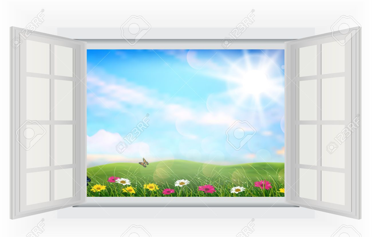 27,334 Open Window Cliparts, Stock Vector And Royalty Free Open ... for Outside Window Clipart  35fsj