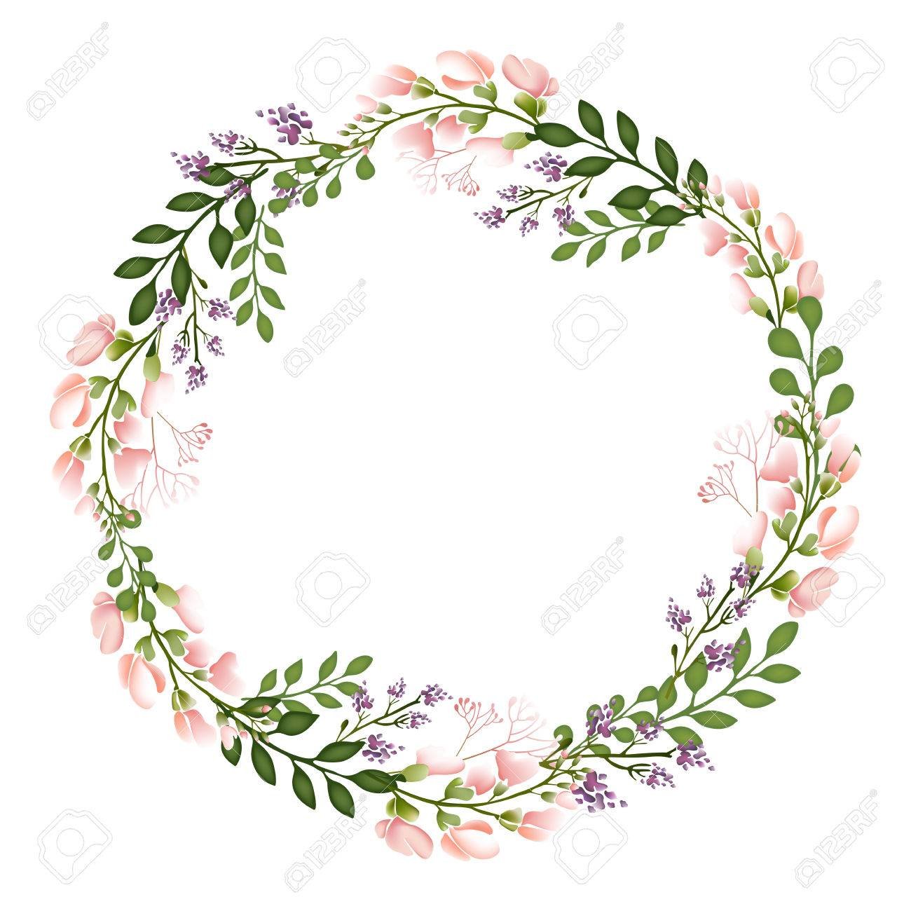 Autumn Floral Frame Collections Stock Photo, Picture And Royalty ...