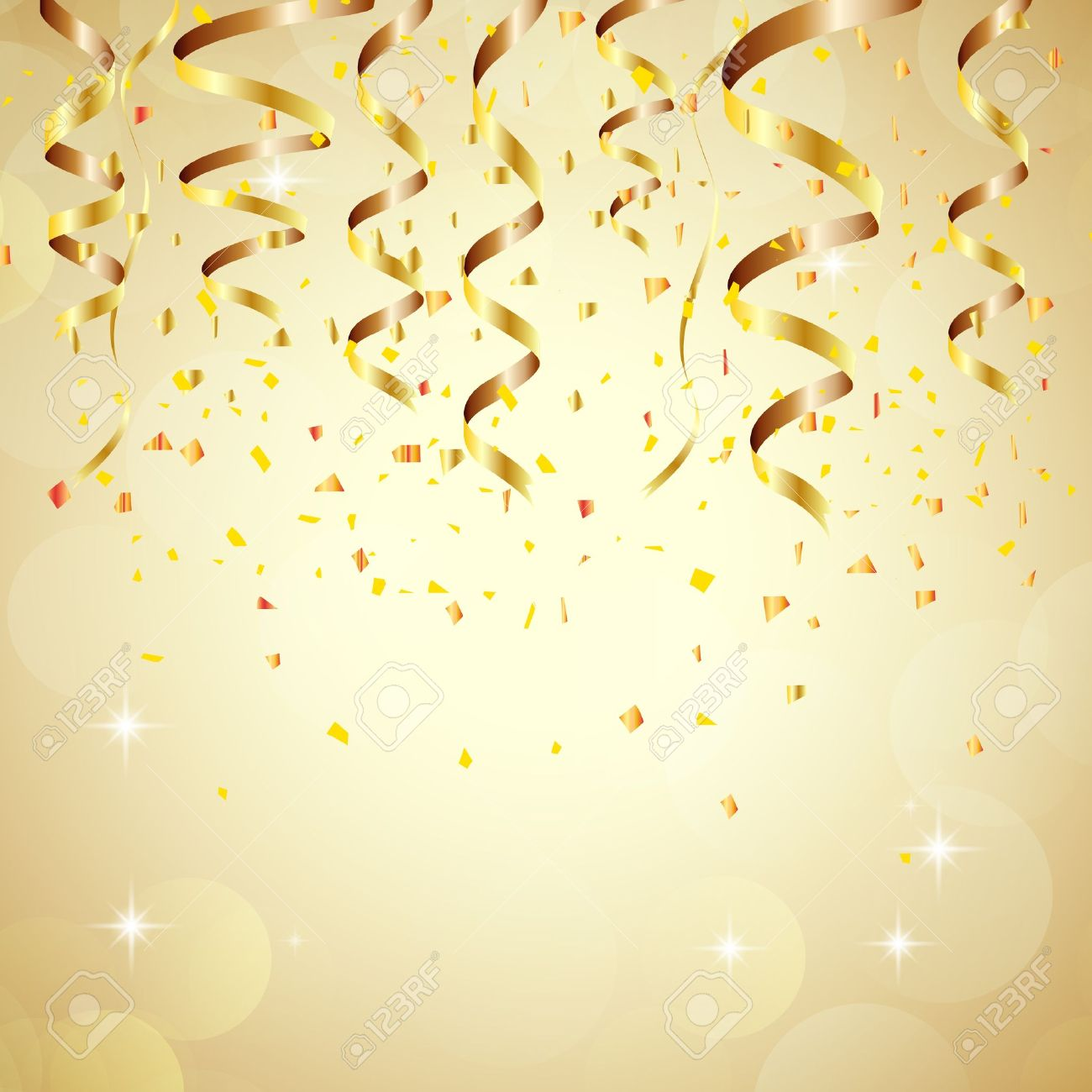 happy new year background with golden confetti stock vector 48683899