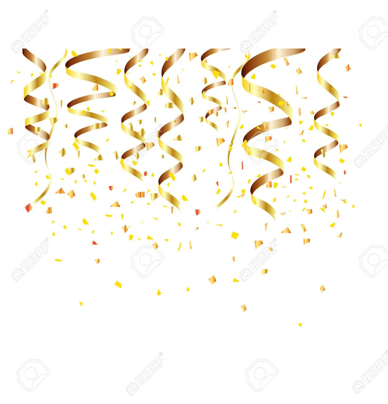 happy new year background with golden confetti stock vector 48690807
