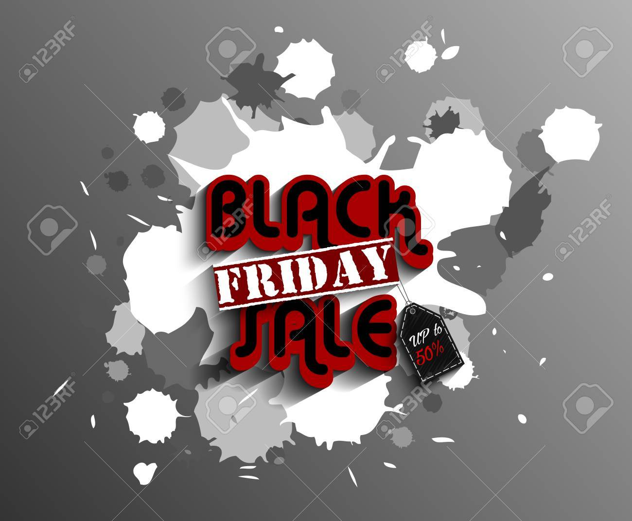 Black Friday Label Template Set For Advertising Sale Print With ...