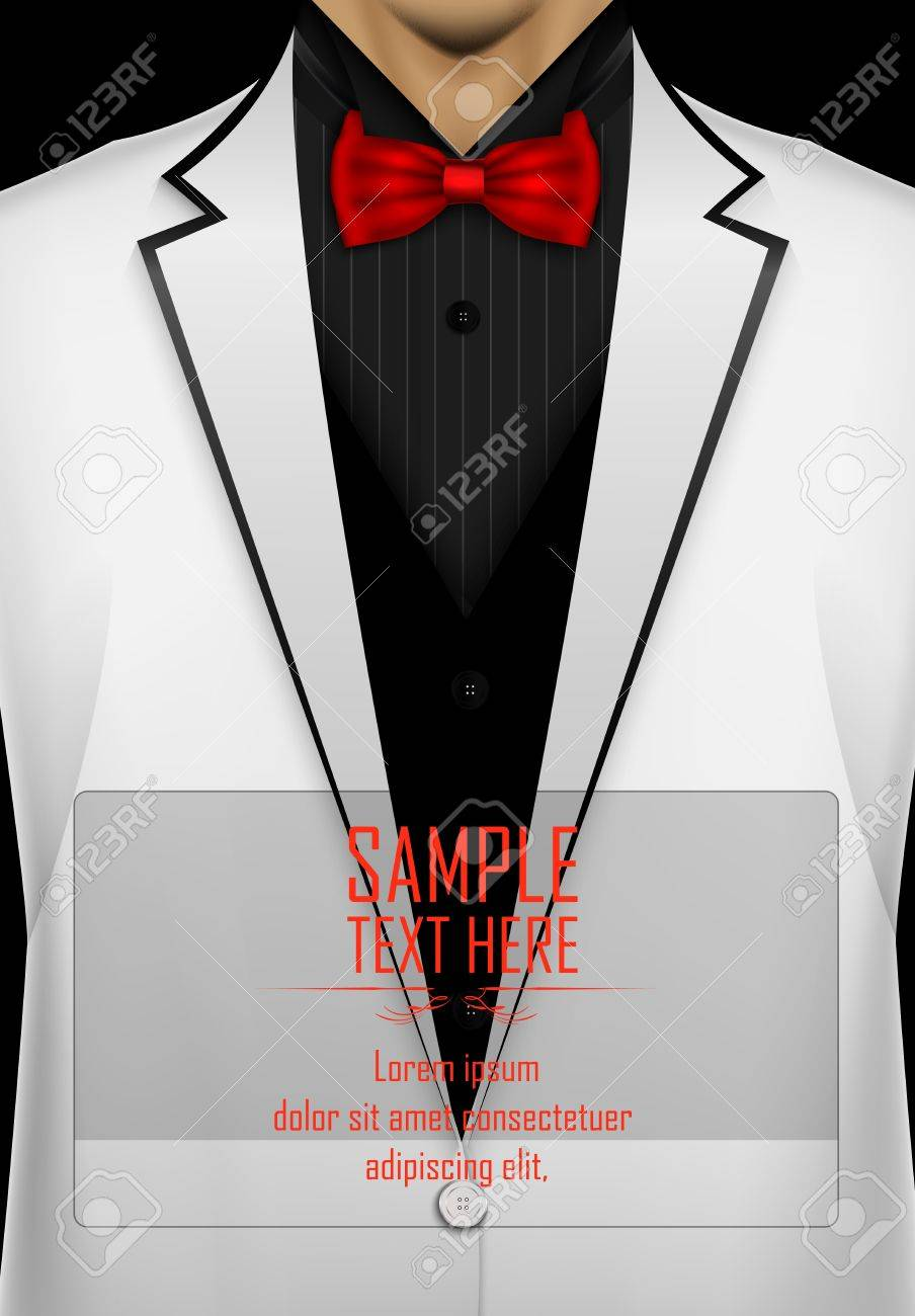 a443cf53 White Tuxedo With Red Bow Tie Stock Photo, Picture And Royalty Free ...