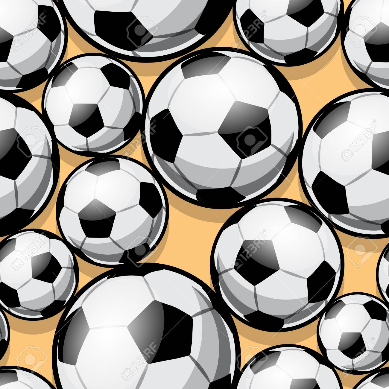 f11b5c197 Seamless pattern with football soccer ball. Vector illustration. Ideal for  wallpaper, cover,