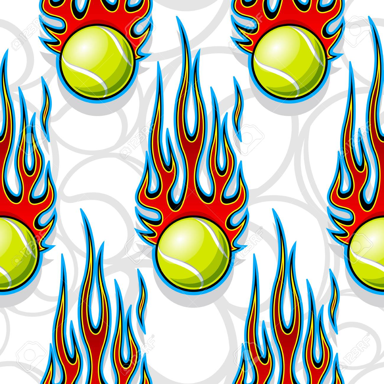 picture about Printable Flames identify Seamless printable practice with tennis and sizzling rod flames