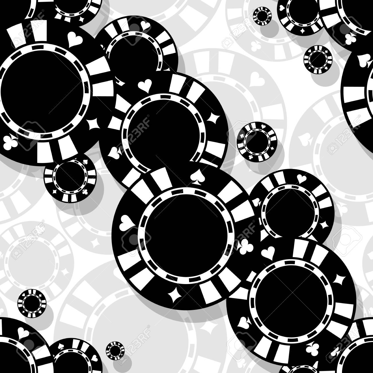 image regarding Printable Game Covers referred to as On line casino poker chips icon seamless behavior. Electronic printable vector..
