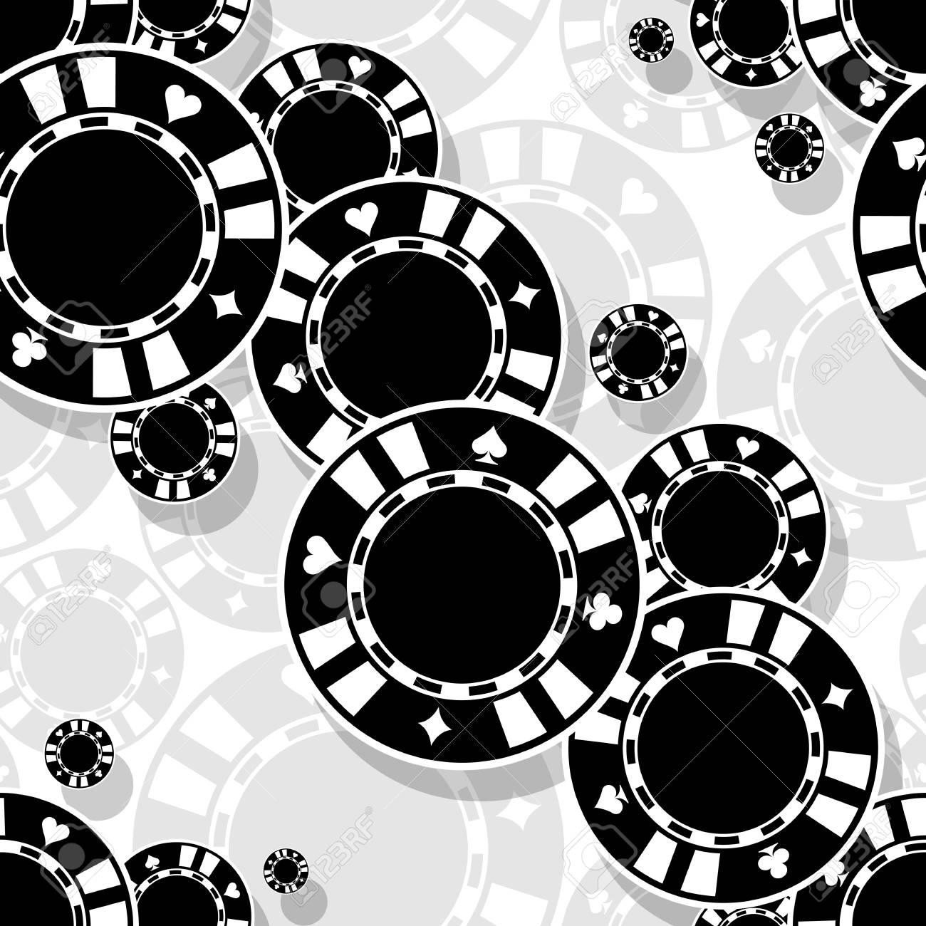 Casino Poker Chips Icon Seamless Pattern Digital Printable Vector