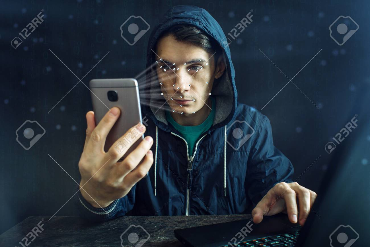 The hacker is trying to hack into the phone using the personal