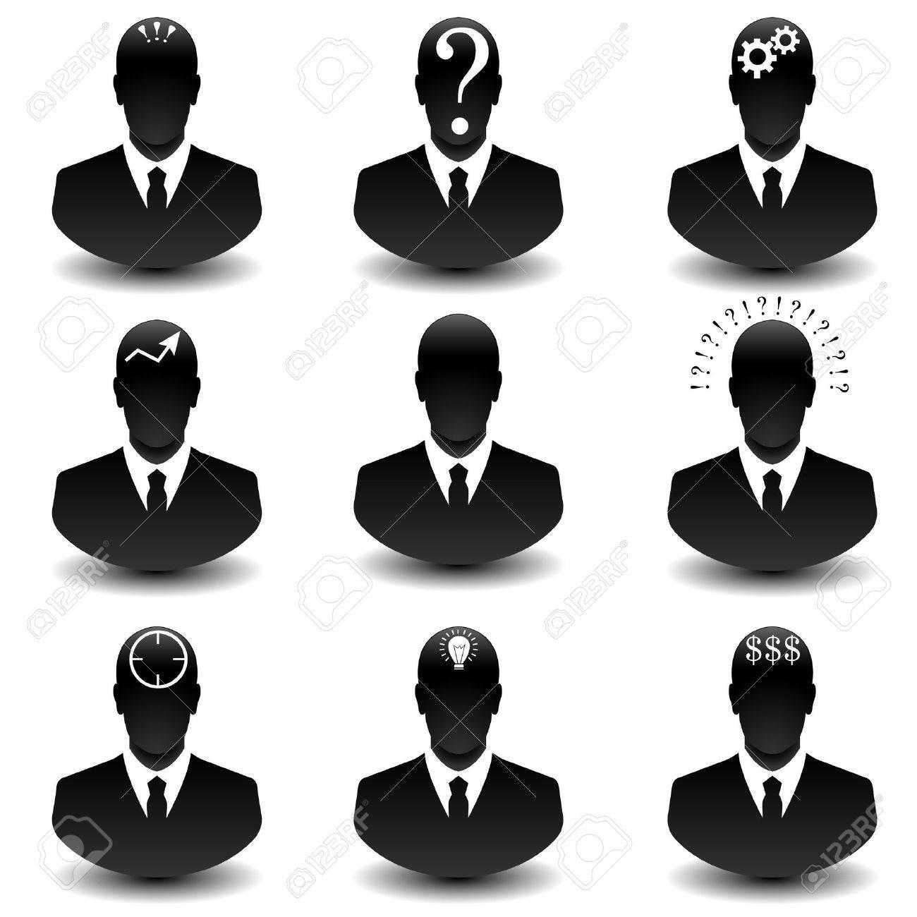 Set of thinking businessman web icon royalty free cliparts set of thinking businessman web icon stock vector 30579386 biocorpaavc