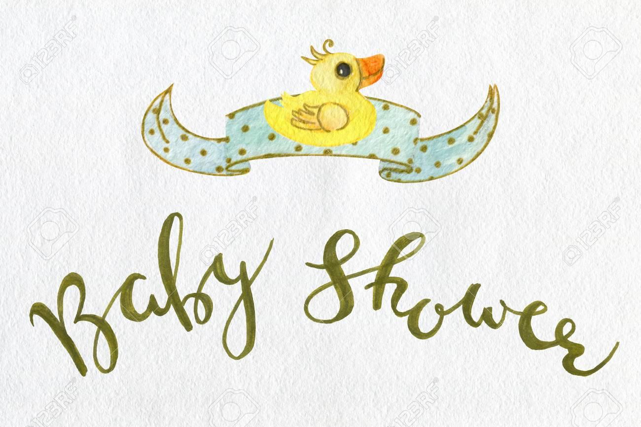 Karte Baby Dusche Clipart Neugeborenes Design Elemente Isoliert Auf