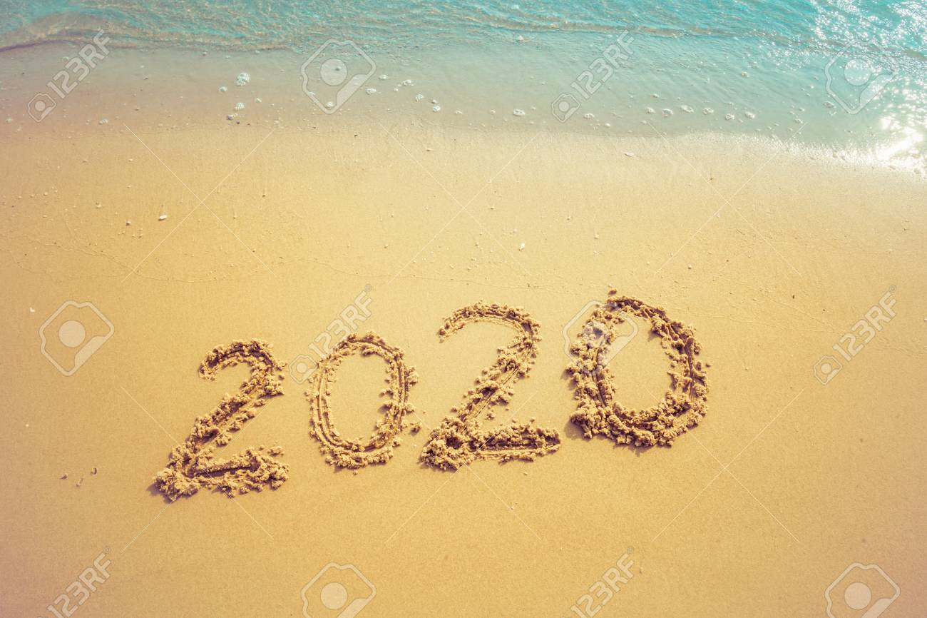 Happy New Year 2020 Concept 2020 Number Lettering On The Sea Stock Photo Picture And Royalty Free Image Image 126524568