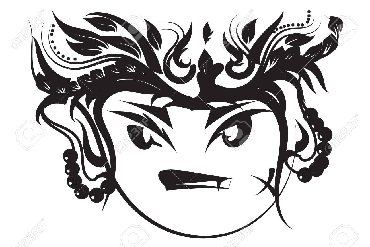 2baeba8f23a19 A Monkey Cartoon Tattoo Vector.art Tribal Royalty Free Cliparts ...