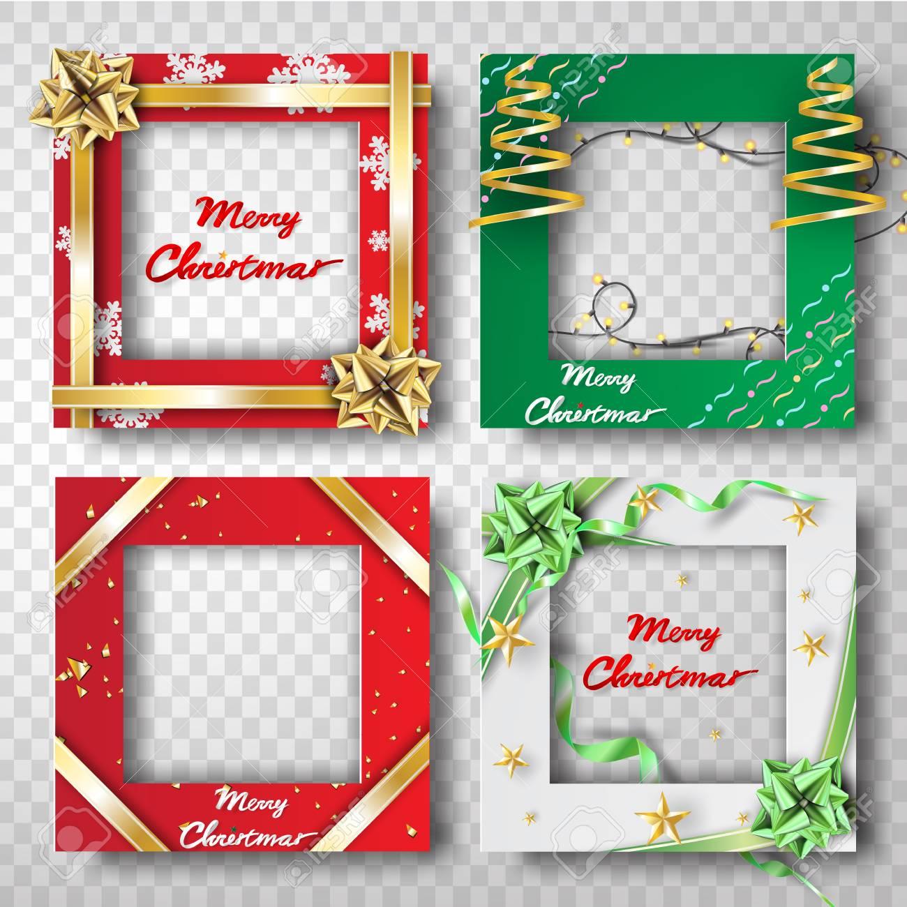Paper Art And Craft Of Christmas Border Frame Photo Design Set