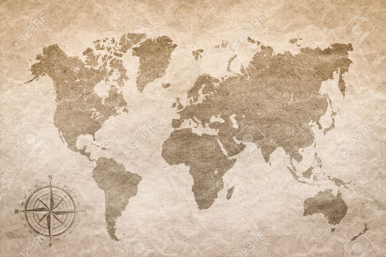 Vintage paper with world map stock photo picture and royalty free stock photo vintage paper with world map gumiabroncs Images