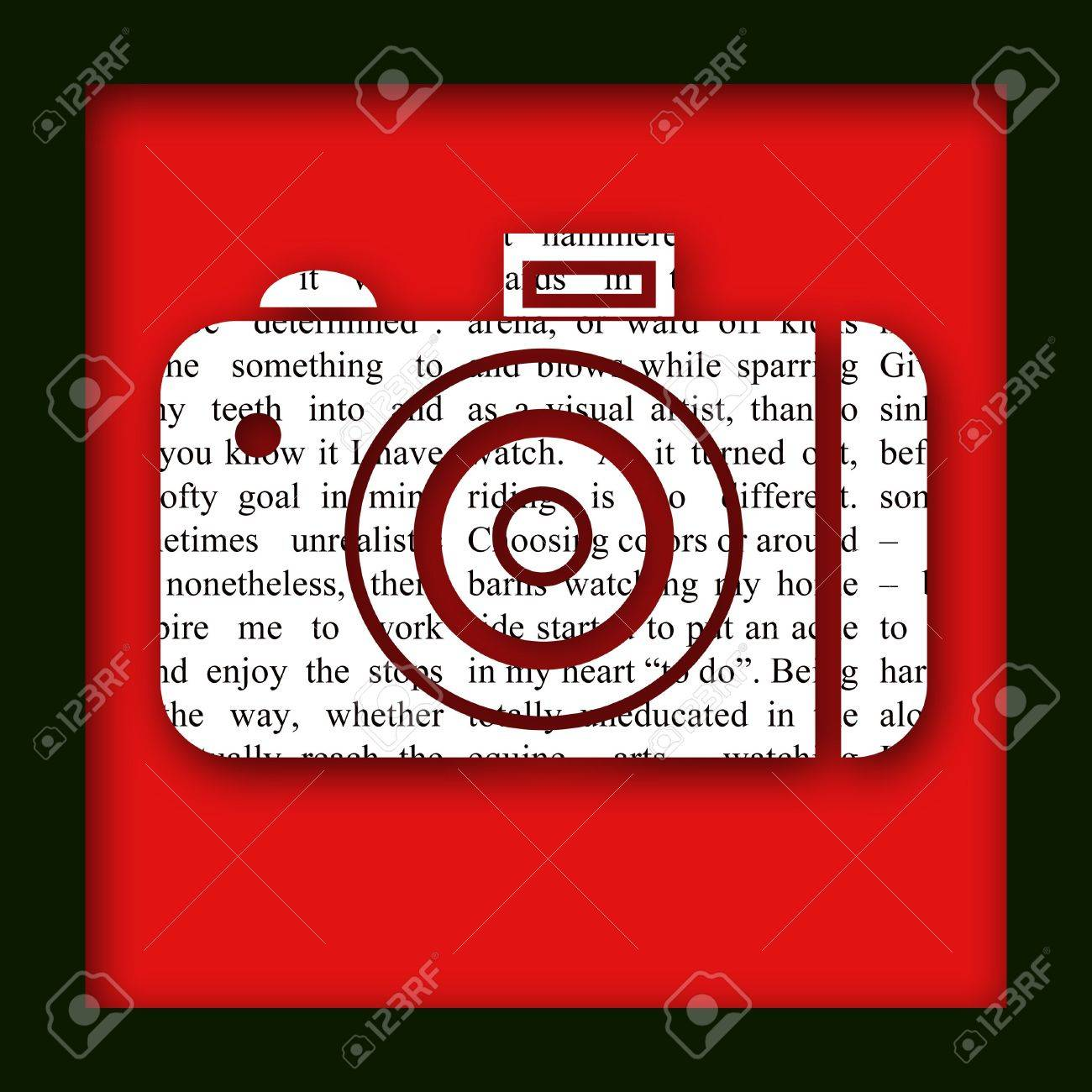 An illustration of a newspaper camera cutout with a border and drop shadow Stock Photo - 831277