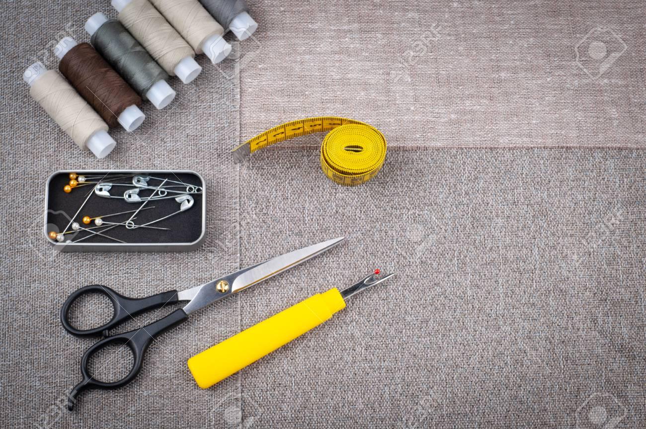 seam ripper measuring tape and snip scissors
