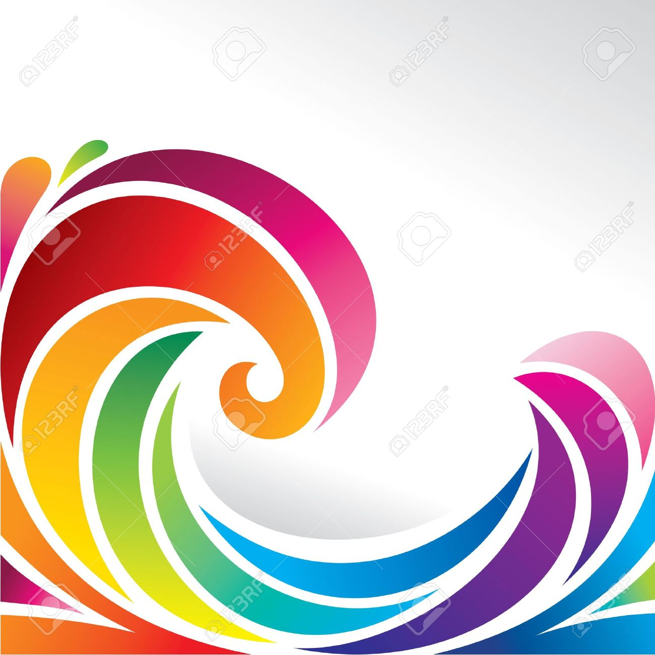 Image result for Rainbow wave