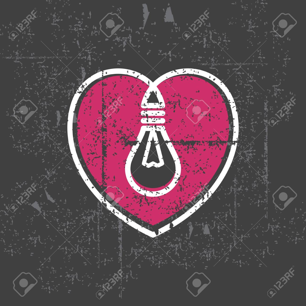 valentine s lamp on grunge background Stock Vector - 15661567